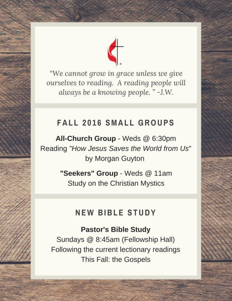 Open Door Small Groups - Fall 2016